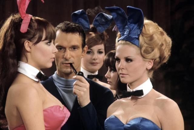 At the risk of claims of misogyny, an old photo of Hugh Hefner and some friends.
