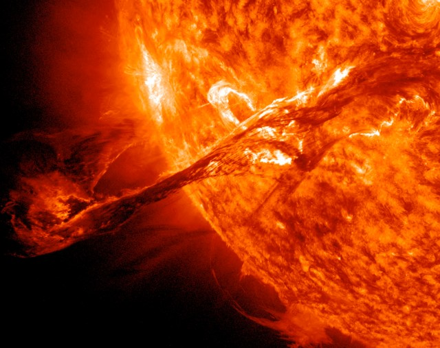 Solar eruption taken by Nasa