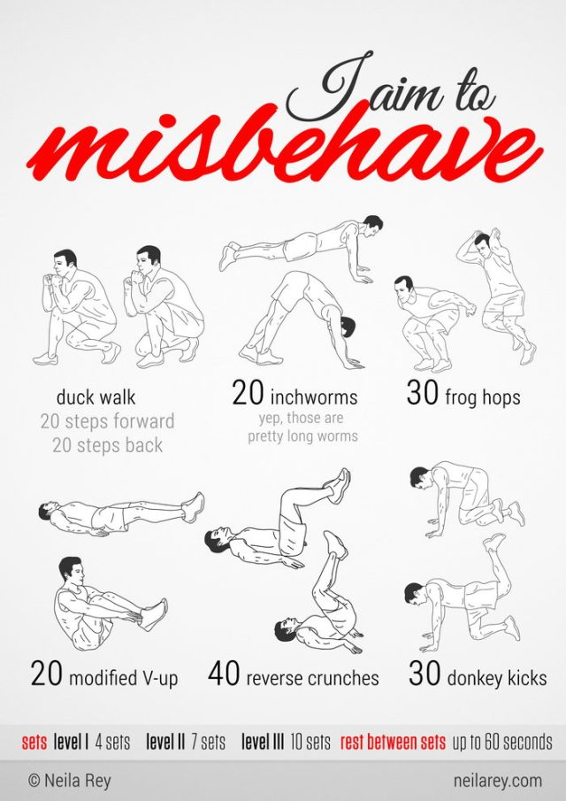 http://neilarey.com/100-no-equipment-workouts.html
