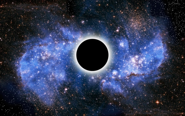 Artist's conception of the event horizon of a black hole. Credit: Victor de Schwanberg/Science Photo Library