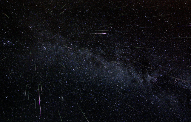 Perseid Meteor Shower - Source NASA (click image for full size / source)